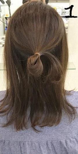 一工夫するだけで普段のお団子が大変身☆ゆるふわの可愛いヘアに!1