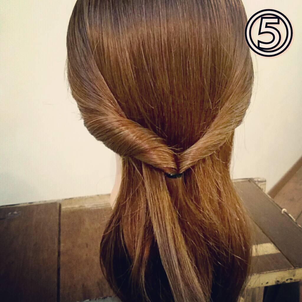 くるりんぱで簡単にできる万能アレンジ!華やかまとめ髪ギブソンタックアレンジ♡5