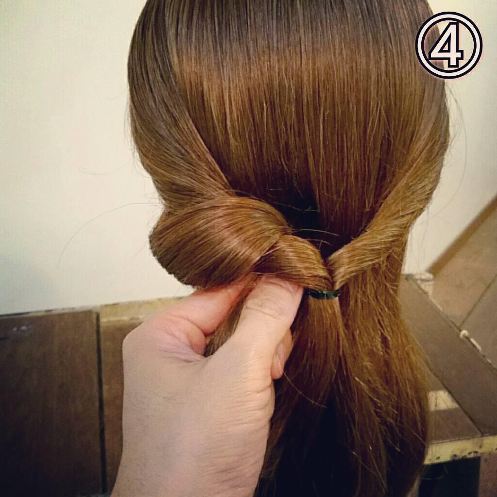 くるりんぱで簡単にできる万能アレンジ!華やかまとめ髪ギブソンタックアレンジ♡4