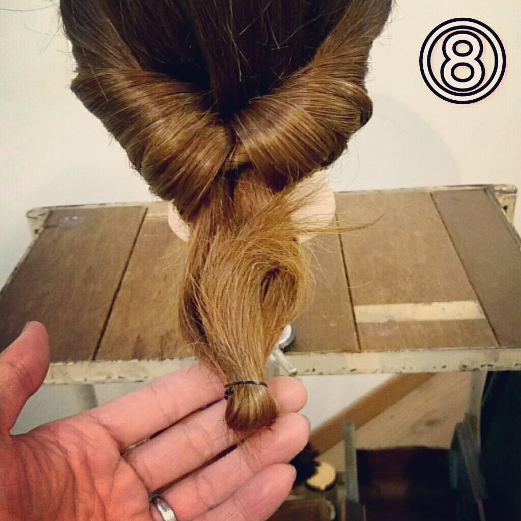 くるりんぱで簡単にできる万能アレンジ!華やかまとめ髪ギブソンタックアレンジ♡8