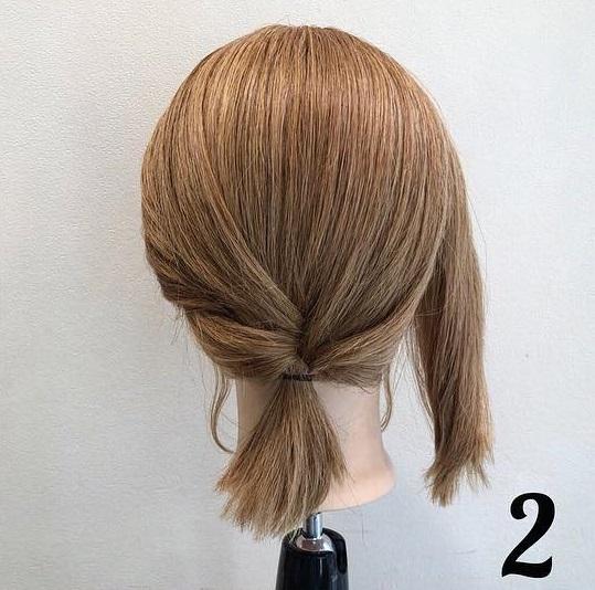 髪が短くてもアレンジを諦めないで!ボブでも出来る、簡単ローポニアレンジ♪2