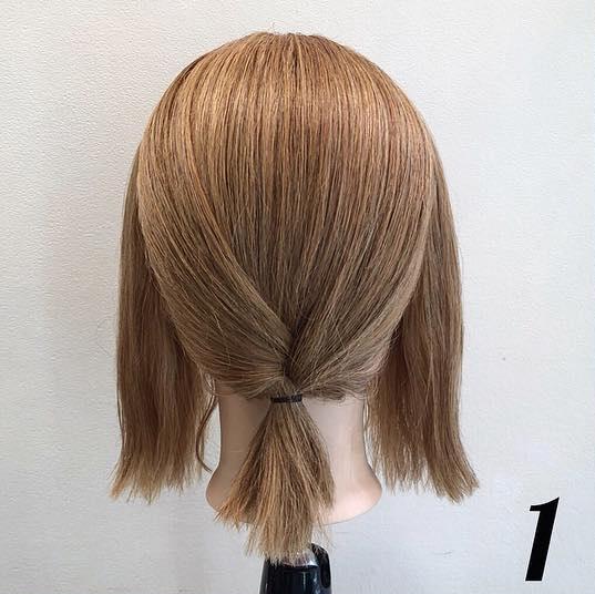 髪が短くてもアレンジを諦めないで!ボブでも出来る、簡単ローポニアレンジ♪1