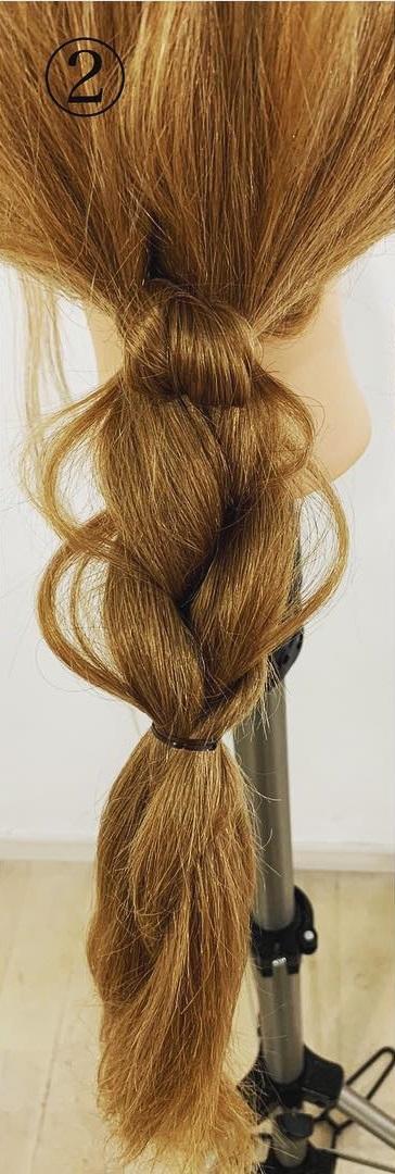 不器用さん必見!3工程で簡単に出来る編みおろしアレンジ♪2