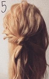 注目されること間違いなし☆ロープ編みで作るまとめ髪5