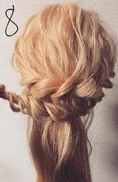 注目されること間違いなし☆ロープ編みで作るまとめ髪8