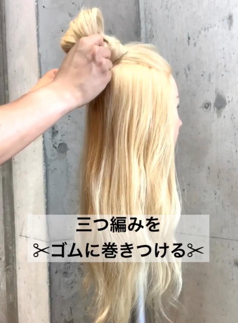 長い前髪もきれいにまとめたい!ハーフアップお団子で可愛く解消♡6
