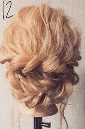 注目されること間違いなし☆ロープ編みで作るまとめ髪12