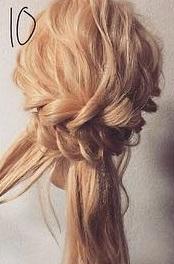 注目されること間違いなし☆ロープ編みで作るまとめ髪10