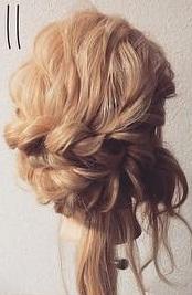 注目されること間違いなし☆ロープ編みで作るまとめ髪11