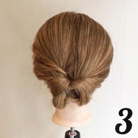 ヘアゴム1本で作るまとめ髪!ルーズ感が可愛いお団子くるりんぱ♪3