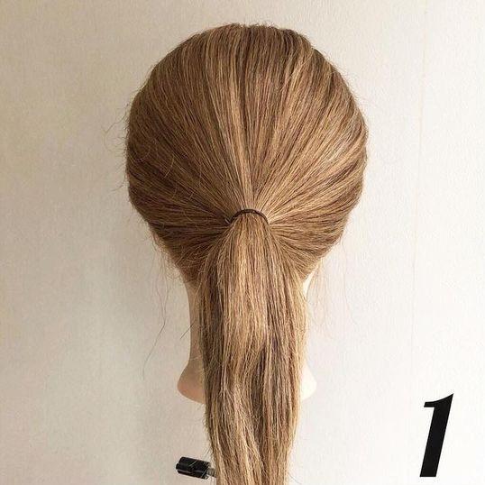 ヘアゴム1本で作るまとめ髪!ルーズ感が可愛いお団子くるりんぱ♪1