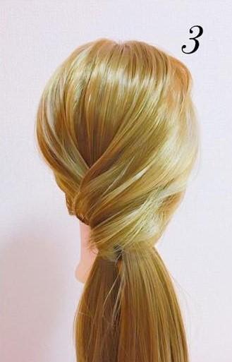パーティーや結婚式に最適!ローポニテでつくるまとめ髪スタイル♪☆3