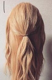 注目されること間違いなし☆ロープ編みで作るまとめ髪1
