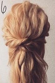 注目されること間違いなし☆ロープ編みで作るまとめ髪6