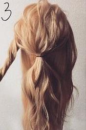 注目されること間違いなし☆ロープ編みで作るまとめ髪3