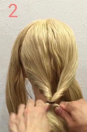 毛量が少ない方にぴったり!くるりんぱと三つ編みで作るギブソンタック☆2