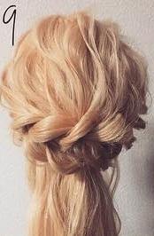 注目されること間違いなし☆ロープ編みで作るまとめ髪9