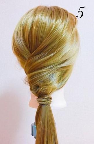 パーティーや結婚式に最適!ローポニテでつくるまとめ髪スタイル♪☆5