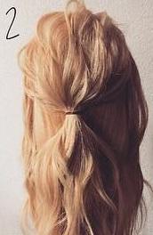 注目されること間違いなし☆ロープ編みで作るまとめ髪2