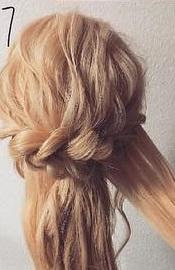注目されること間違いなし☆ロープ編みで作るまとめ髪7