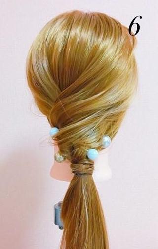 パーティーや結婚式に最適!ローポニテでつくるまとめ髪スタイル♪☆6