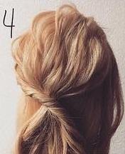 注目されること間違いなし☆ロープ編みで作るまとめ髪4