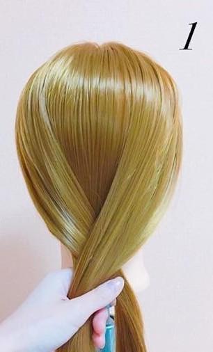 パーティーや結婚式に最適!ローポニテでつくるまとめ髪スタイル♪☆1