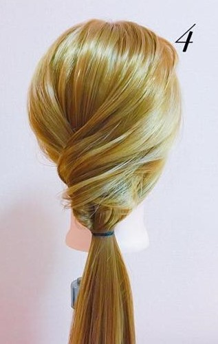 パーティーや結婚式に最適!ローポニテでつくるまとめ髪スタイル♪☆4