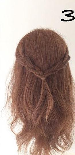 ハーフアップで簡単にできる!前から見ても後ろから見ても可愛いモテ髪アレンジ3