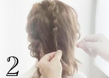 前から見ても後ろから見ても可愛い♡ミディアムヘアでできるお呼ばれローポニ2