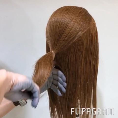 忙しい朝に!ゴムだけで簡単に!まとめ髪アレンジ☆1