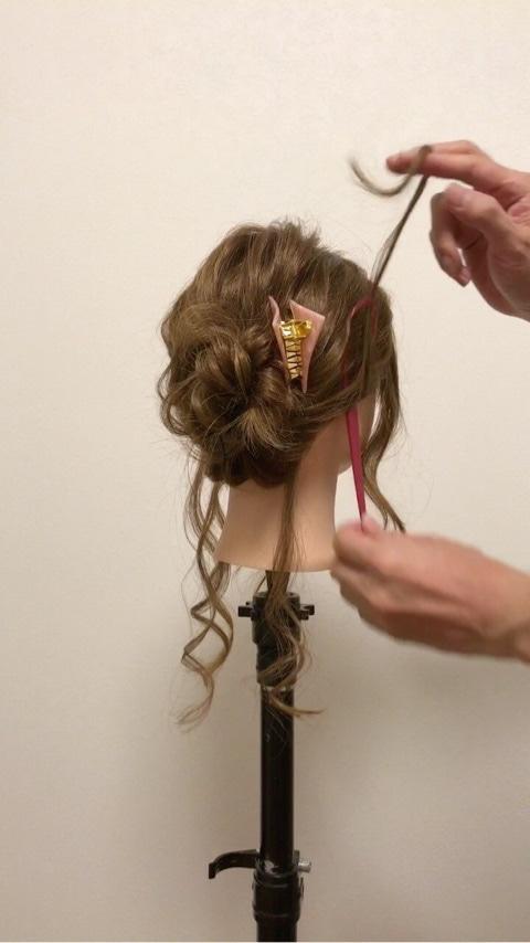ふわっと可愛い♡おくれ毛を活かすアップヘア9