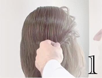 小顔効果も!?ミディアムで一番簡単なヘアアレンジ☆1
