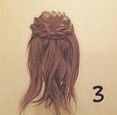 髪をアップにしてスッキリ☆形が可愛いセンタートップくるりんぱツイスト♪3