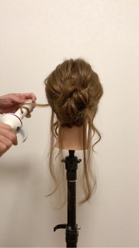 ふわっと可愛い♡おくれ毛を活かすアップヘア6