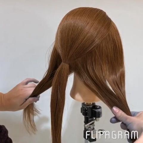 忙しい朝に!ゴムだけで簡単に!まとめ髪アレンジ☆2