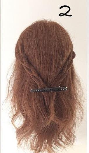 ハーフアップで簡単にできる!前から見ても後ろから見ても可愛いモテ髪アレンジ2