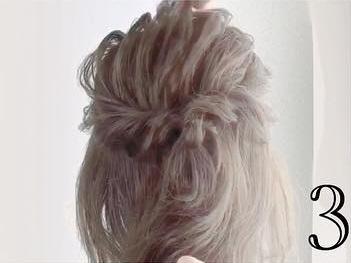 小顔効果も!?ミディアムで一番簡単なヘアアレンジ☆3