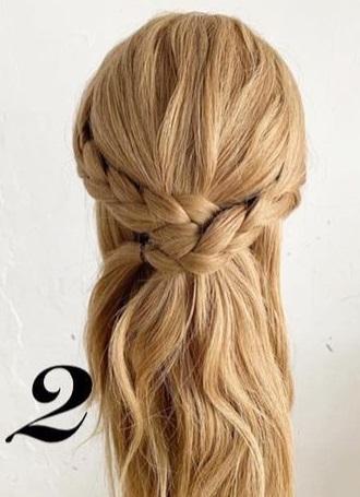 後ろ姿がとても可愛い♡三つ編みでできるヘアアレンジ2