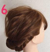 ロープ編みでどこから見ても可愛い♪いろんなシーンで使える簡単まとめ髪6