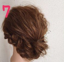 ロープ編みでどこから見ても可愛い♪いろんなシーンで使える簡単まとめ髪7