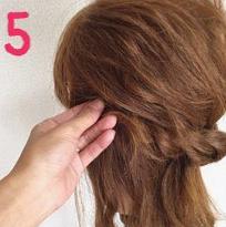 ロープ編みでどこから見ても可愛い♪いろんなシーンで使える簡単まとめ髪5