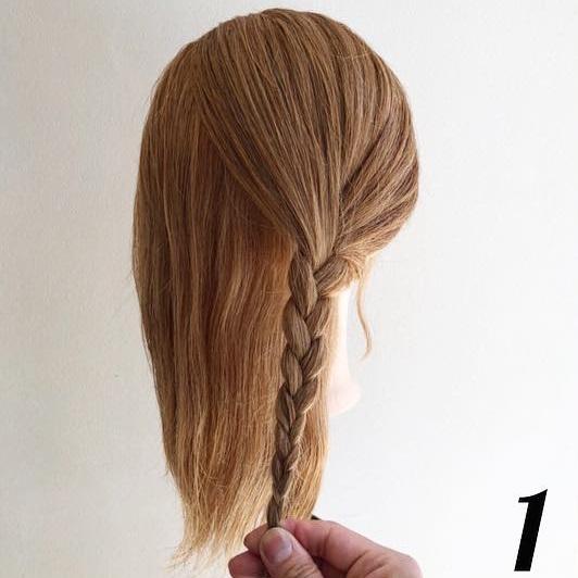 オールマイティ◎時短で上品に変身☆シニヨン風まとめ髪1