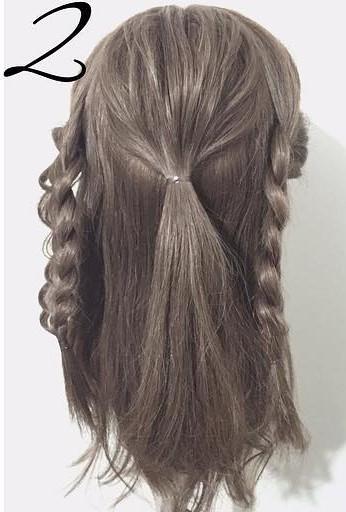 三つ編みで作る!自分でできる結婚式にピッタリなお呼ばれヘア2