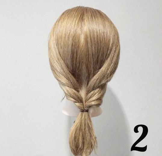 【5分でできる☆】ねじってほぐすだけ!簡単・時短で可愛い編み下ろし風アレンジ2