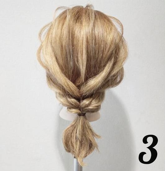 【5分でできる☆】ねじってほぐすだけ!簡単・時短で可愛い編み下ろし風アレンジ3