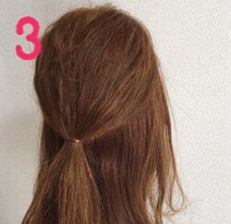 ロープ編みでどこから見ても可愛い♪いろんなシーンで使える簡単まとめ髪3
