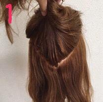 ロープ編みでどこから見ても可愛い♪いろんなシーンで使える簡単まとめ髪1