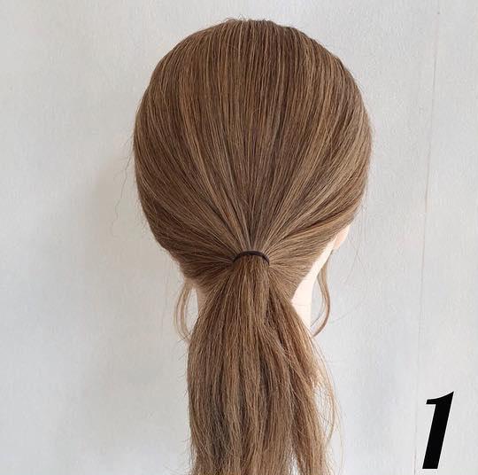 夏におすすめ☆浴衣にもぴったりな簡単まとめ髪1
