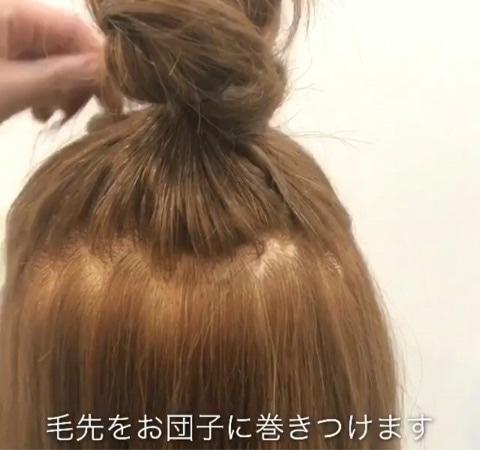 思わず触りたくなる可愛さ♡ゆるふわハーフアップお団子5